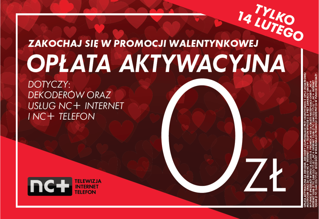 Walentynkowa Promocja Dla Zakochanych W Nc Tv Expert